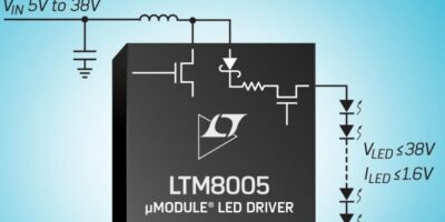 LED regulator can be configured in choice of operation modes
