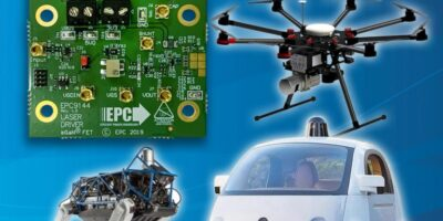 Demonstration board drives eGaN FETs for ToF and lidar systems