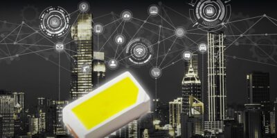 White chip LEDs save space in IoT devices and drones