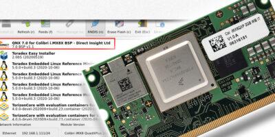 Direct Insight creates QNX 7 BSP for Toradex Colibri iMX8X SoC modules